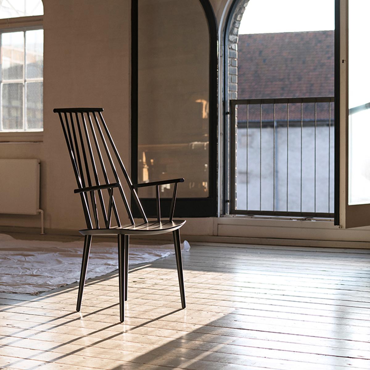 hay j110 tuoli musta finnish design shop. Black Bedroom Furniture Sets. Home Design Ideas