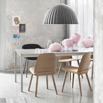 Muuto Base table 190 x 85 cm, laminate with plywood edges, white