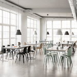 Muuto Base pöytä 190 x 85 cm, laminaatti vanerireunalla, valkoinen