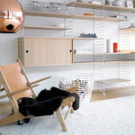 String Furniture Mobiletto String, 78 x 30 cm, rovere