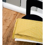 Artek Rivi acrylic coated fabric, 145 x 300 cm, mustard - white