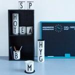 Design Letters Coperchio di legno, nero