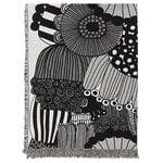 Marimekko Siirtolapuutarha blanket, black - off white