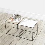 By Lassen Twin 42 sohvapöytä, valkoinen/tammi