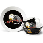 Arabia Moomin bowl, Ancestor, black