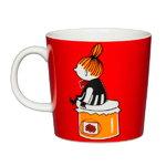 Arabia Moomin mug, Little My, red