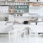 String Furniture String folding table, white