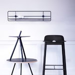 Woud Coupé wall shelf, horizontal, black