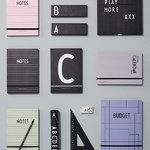 Design Letters Notebook, pink