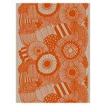 Marimekko Siirtolapuutarha linen fabric, linen - orange