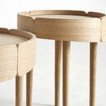 Woud Skirt coffee table, medium, oak