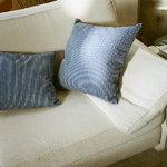 Artek Rivi tyynynpäällinen, 40 x 40 cm, valkoinen - sininen