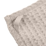 The Organic Company Big Waffle kitchen and wash cloth, stone