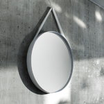 HAY Strap mirror large, grey