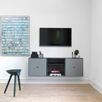 By Lassen Frame 42 shelf, black stained ash