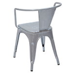 Tolix A56 chair, galvanized for outdoors