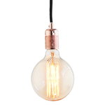 Frama E27 pendant, copper - black