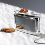 Alessi Toaster SG68, steel - white