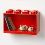Room Copenhagen Mensola Lego Brick Shelf 8, rosso brillante