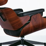 Vitra Eames Lounge Chair, new size, walnut - black leather