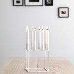 By Lassen Kubus 8 kynttilänjalka, valkoinen