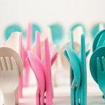 Ekobo Bambino Trio cutlery set, lagoon