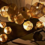 Tom Dixon Etch pendant, brass