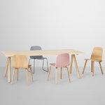 Muuto Visu chair, wood base, grey, PU lacquer
