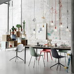 Muuto Fiber side chair, swivel base, white