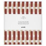 Artek Siena canvas puuvillakangas, 150x300 cm, tiilenpun.-hiekanruskea