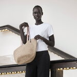 Mifuko Kiondo shopper basket, M, brown