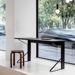 Artek Kaari desk REB 005, black laminate - black oak