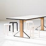 Artek Kaari table REB 001, white laminate - oak