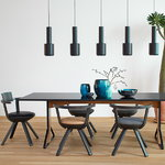 Artek Kaari table REB 001, black lino - black oak