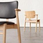 Artek Domus chair, lacquered oak