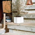 Artek Riihitie plant pot B, small, white gloss