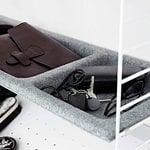 String Furniture String bowl shelf, felt, light grey
