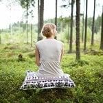 Saana ja Olli Yö metsässä interior pillow, large, white-blue