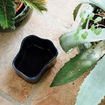 Artek Riihitie plant pot B, medium, blue gloss
