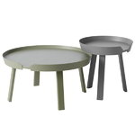 Muuto Around coffee table, large, dusty green