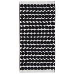 Marimekko Räsymatto hand towel, black-white