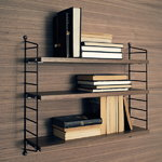 String Furniture Scaffale String Pocket, noce-nero