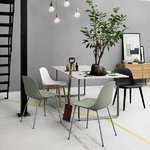 Muuto Fiber side chair, tube base, black