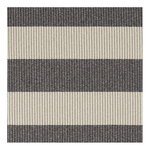 Woodnotes Big stripe in/out rug, melange grey - light sand