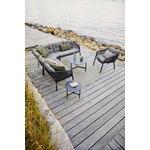 Cane-line Twist coffee table, diam. 90 cm, lava grey - fossil black