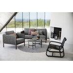 Cane-line Twist sohvapöytä, halk. 45 cm, tummanharmaa - musta