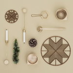 Ferm Living Christmas tree candleholders, set of 4