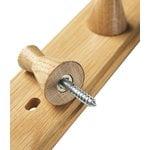 FDB Møbler Q3 Allé coat rack, 3 hooks, oak