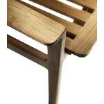 FDB Møbler M11 Sammen 3-seater bench with backrest