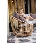 Cane-line Nest pyöreä tuoli, luonnonvärinen - vaaleanharmaa